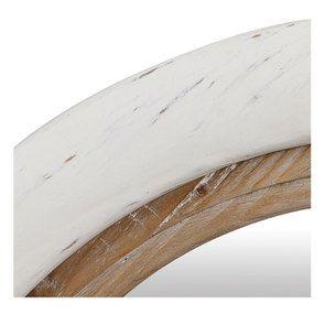 Miroir rond blanc et bois - Visuel n°7
