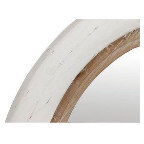 Miroir rond blanc et bois - Visuel n°8