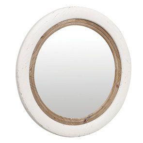 Miroir rond blanc et bois - Visuel n°5