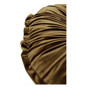 Coussin rond plissé