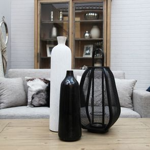 Lanterne contemporaine en métal noir