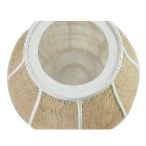 Lanterne en osier et bois blanc