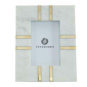 Cadre photo marbre et doré