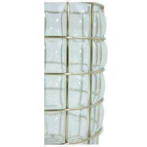 Photophore en verre et cerclage laitonné - Visuel n°5