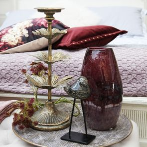 Vase en verre coloré violet/rose