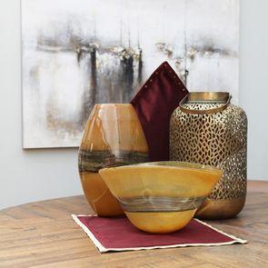 Vase en verre soufflé marron