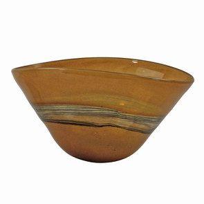 Coupelle en verre soufflé marron