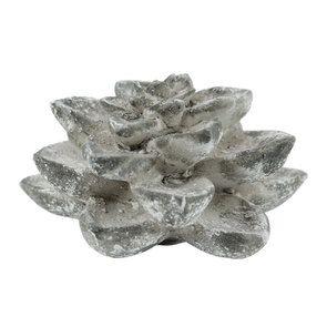 Plante succulente en céramique aspect ciment - Visuel n°4
