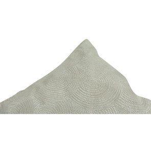 Housse de coussin blanche coton et lin effet satiné - Visuel n°8