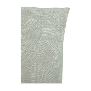 Housse de coussin blanche coton et lin effet satiné - Visuel n°9