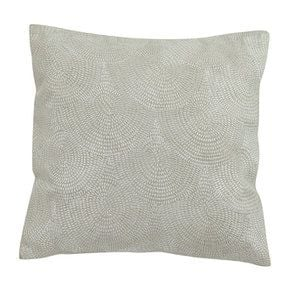 Housse de coussin blanche coton et lin effet satiné - Visuel n°1
