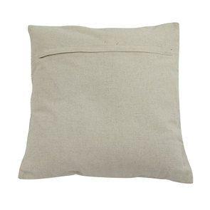 Housse de coussin blanche coton et lin effet satiné - Visuel n°5