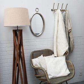 Plaid en coton tissé blanc