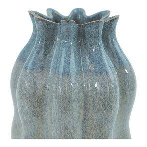 Vase décoratif en céramtique bicolore