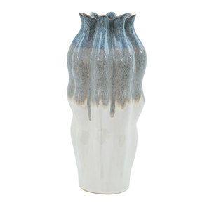Vase décoratif en céramique bicolore