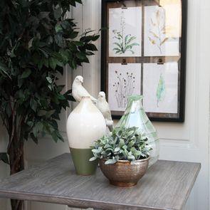 Vase décoratif tricolore vert