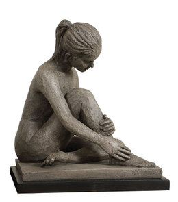 Sculpture femme assise