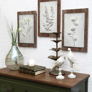Triptyque de panneaux floraux - Visuel n°3