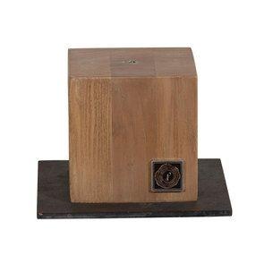 Petit socle en bois pour statue à visser