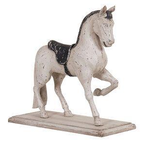 Statuette cheval blanc