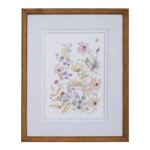 Tableau motif floral façon aquarelle
