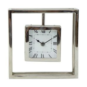 Horloge à poser chromée