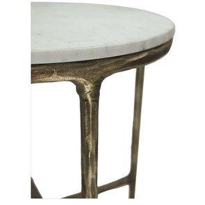 Guéridon marbre et métal - Visuel n°3