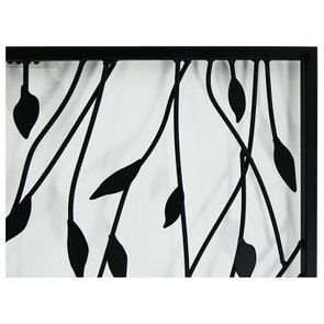 Tableau en métal noir végétal 69x49