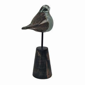 Statue oiseau en verre et métal - Visuel n°6
