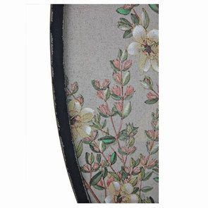 Tableau ovale perruche sur toile de lin - Visuel n°5