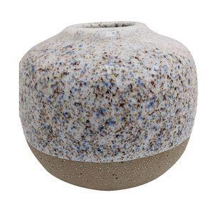 Vase décoratif en céramique effet bi-matière