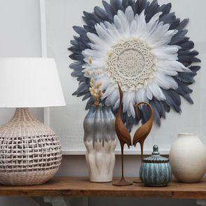 Pot décoratif bleu en céramique
