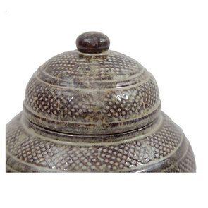 Pot décoratif en céramique beige