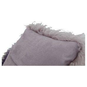 Housse de coussin en laine d'agneau tie and dye violet