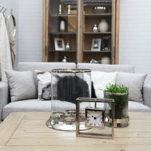 Housse de coussin en coton nuances de gris