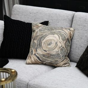 Housse de coussin en lin brodé motif floral - Visuel n°3