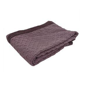 Boutis effet velours 130x180 violet - Visuel n°3