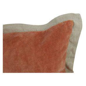 Housse de coussin 45X45 orange effet velours - Visuel n°5