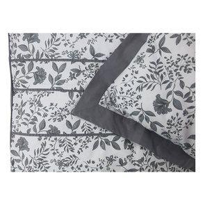 Housse de couette 220x240 et 2 taies 60x60 en tissu gris et motif floral réversible - Visuel n°4