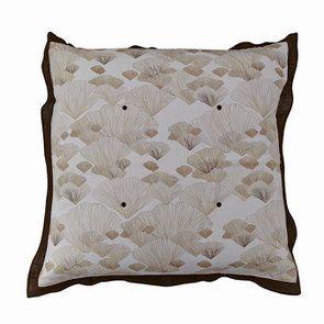 Housse de coussin réversible motif floral