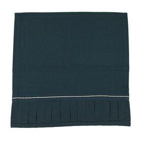 Lot de deux serviettes bleues plissées