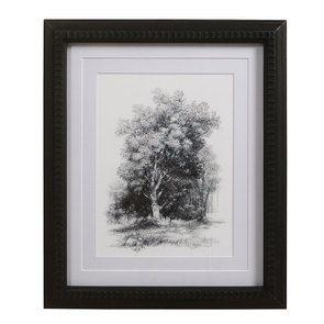 Tableau paysage noir et blanc