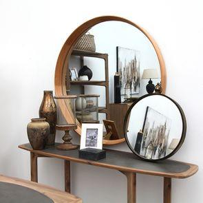 Miroir en chêne 100 cm