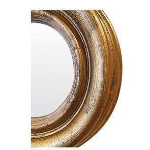 Miroir sorcière doré convexe