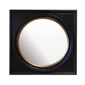 Miroir noir et doré 80 cm