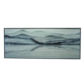 Cadre paysage sur fils de coton