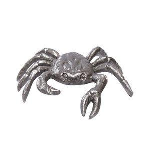 Statuette crabe argenté