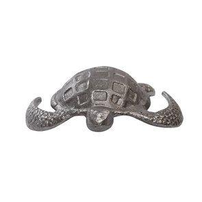 Statuette tortue argentée