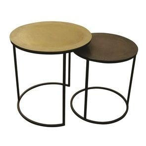Tables gigognes rondes bronze - Factory