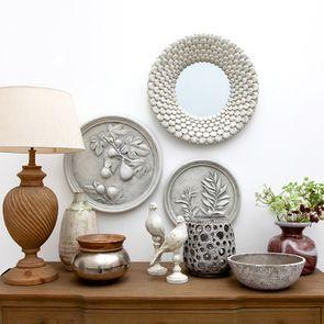Pot décoratif bois et argenté